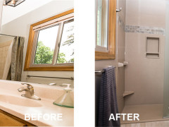 Complete Value Bath, Bathroom remodeling project by Roncor Construction, Minneapolis St Paul